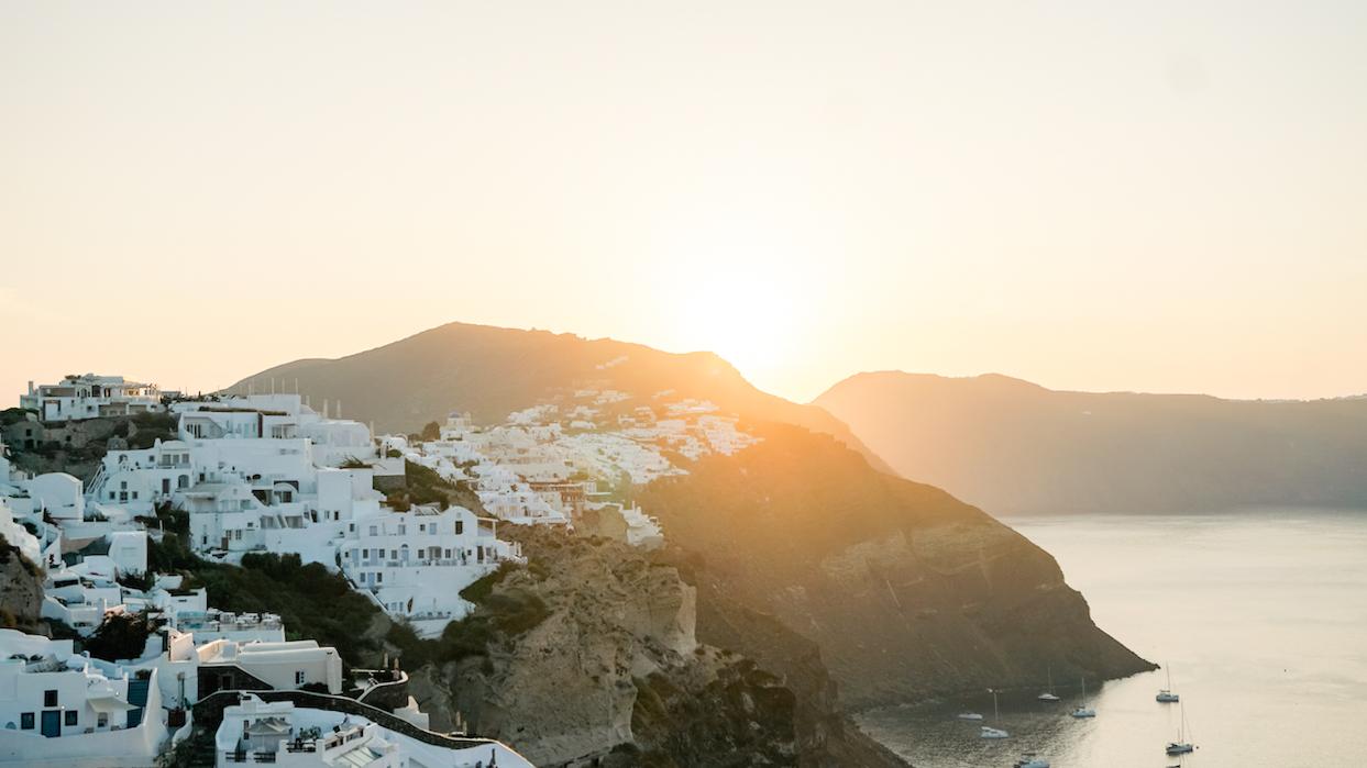 Santorini, Oia during sunrise