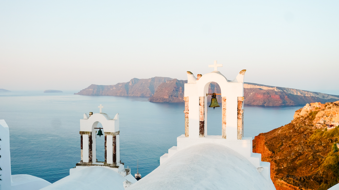 Santorini, Oia during sunrise