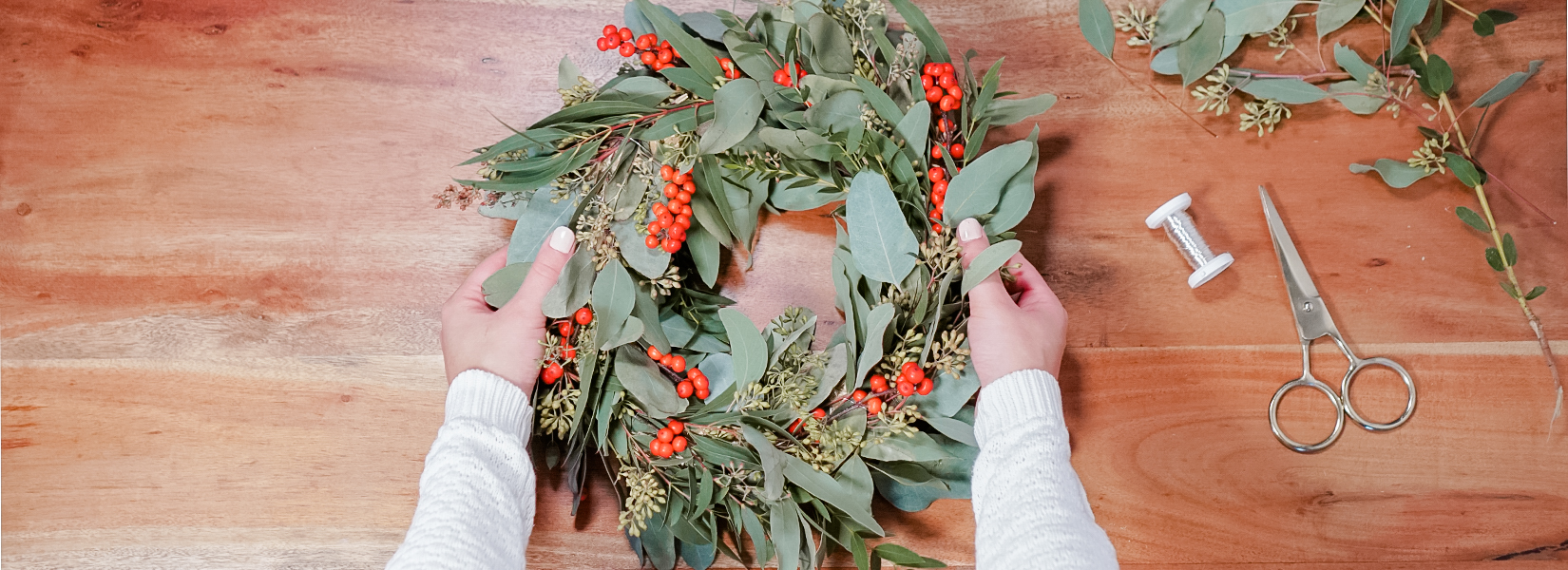 DIY For The Holidays: How To Make A Modern Christmas Wreath
