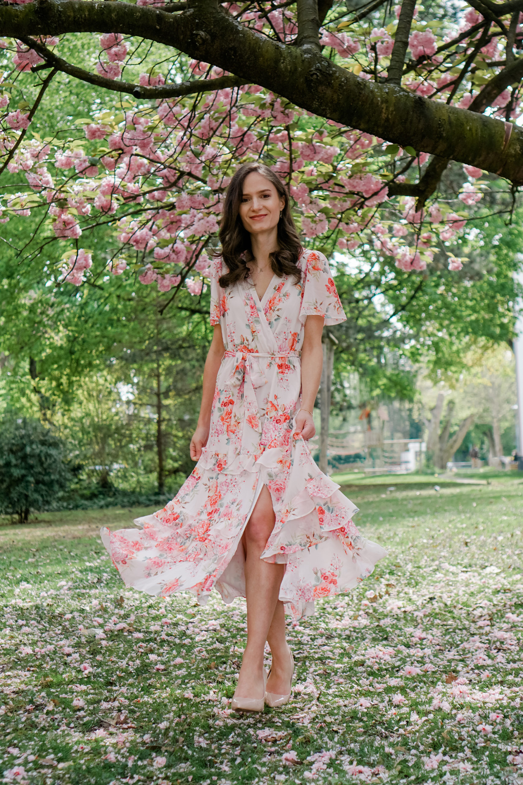 floral dress for spring and summer